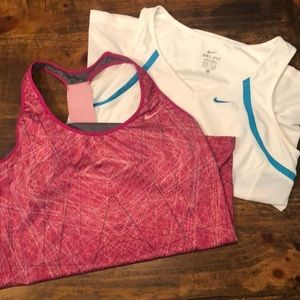 Lot of 2 Nike Athletic Tops sz M